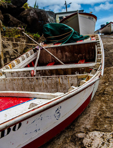 Photograph - Old Wooden Fishing Boat On Dock  by Joseph Amaral