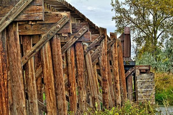 Photograph - Old Wooden Trestle by Fiskr Larsen