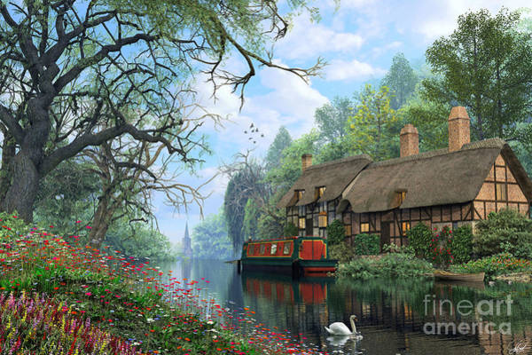 Wall Art - Digital Art - Old Woodland Canal by Dominic Davison