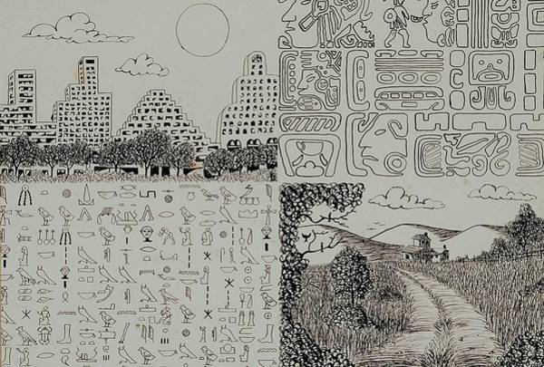 Drawing - Old World New World by Karen Buford