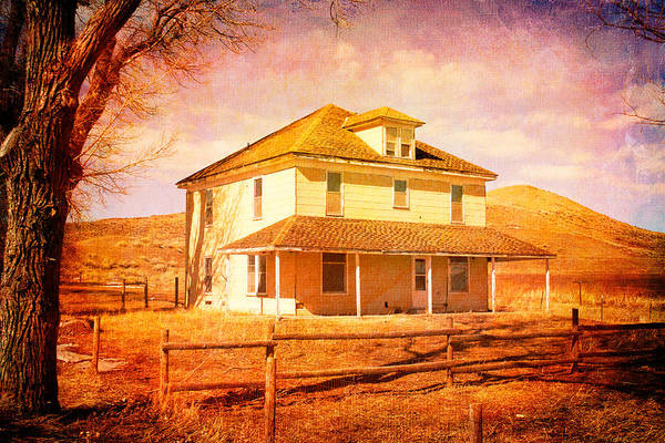 Photograph - Old Yellow House by Rick Wicker