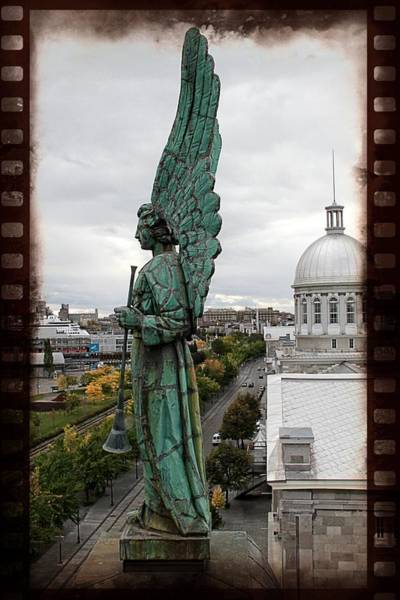 Photograph - Olde Montreal Angel by Alice Gipson