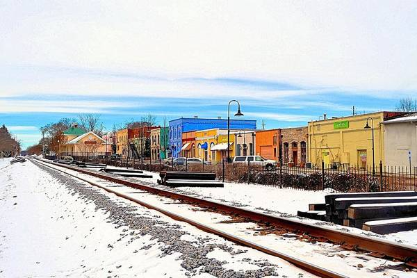 Conyers Photograph - Olde Town In Snow by James Potts