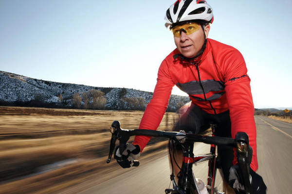 Sport Photograph - Older Man On A Rod Bike, Going Fast by Daniel Milchev
