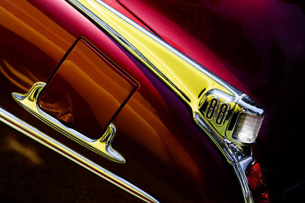 Oldsmobile Wall Art - Photograph - Olds 88 Taillight  by Rebecca Cozart