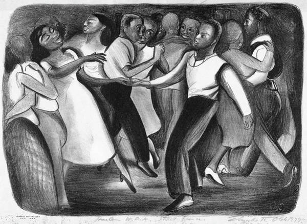 African Dance Painting - Olds Harlem, 1937 by Granger