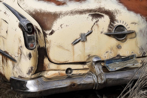Wrecking Yard Photograph - Oldsmobile 50s by Wes and Dotty Weber