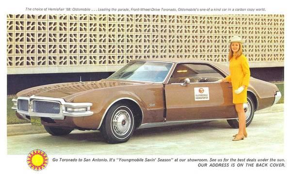 Painting - Oldsmobile Front Wheel Drive Toronado by Kip DeVore