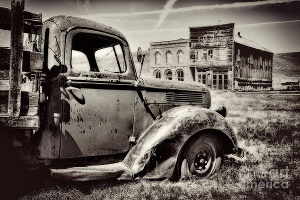 Bodie Ghost Town Wall Art - Photograph - Oldtimer by Lana Trussell