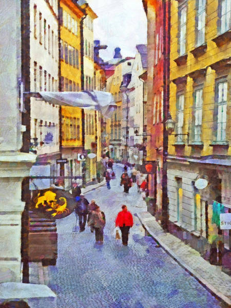 Digital Art - Oldtown Stockholm by Digital Photographic Arts