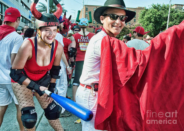 Roller Blades Photograph - Ole At The Running Of The Bulls In New Orleans by Kathleen K Parker