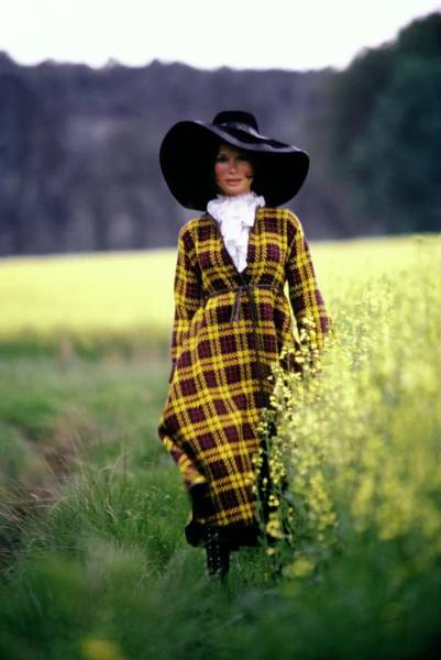 Yellow Flower Photograph - Olga Georges-picot Wearing Bonnie Cashin by Arnaud de Rosnay