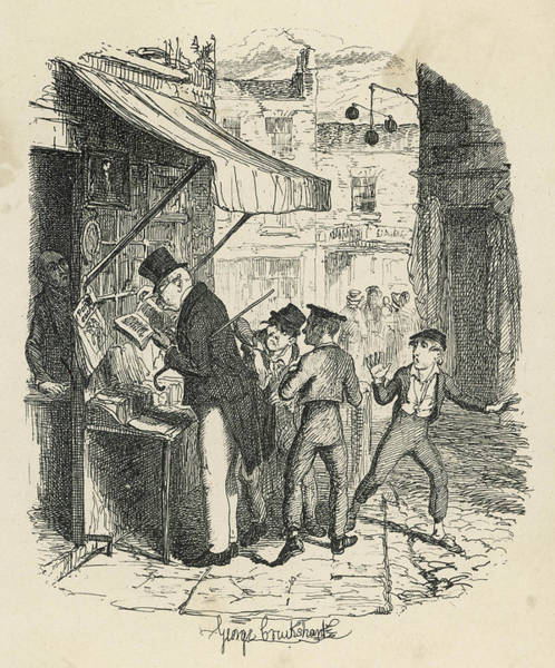 Artful Drawing - Oliver Amazed At The Artful  Dodger's by Mary Evans Picture Library