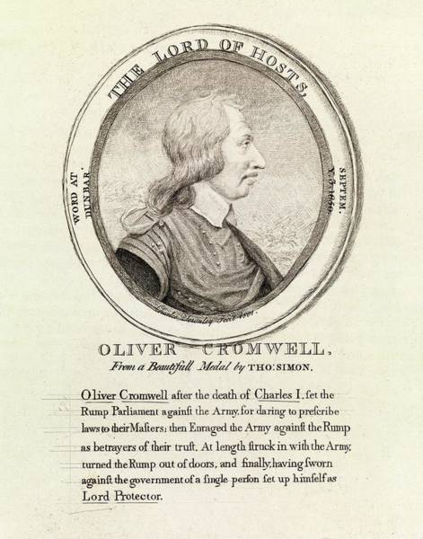 Medallion Wall Art - Photograph - Oliver Cromwell by Middle Temple Library/science Photo Library