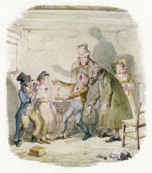 Artful Drawing - Oliver With Fagin, The Artful  Dodger by Mary Evans Picture Library