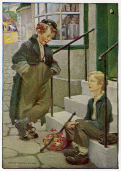 Artful Drawing - Oliver's First Meeting With  The Artful by Mary Evans Picture Library