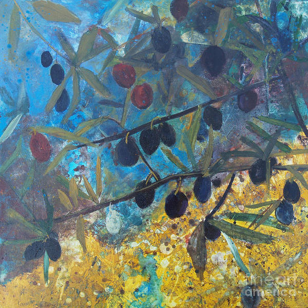 Painting - Olives by Robin Maria Pedrero