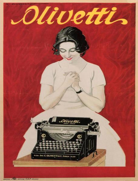 Journalist Digital Art - Olivetti by Georgia Fowler