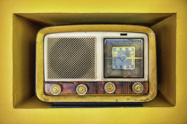 Old People Photograph - Ols School Radio by Chema Mancebo