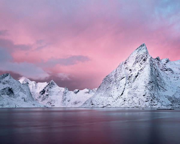 Mike D Photograph - Olstind Dawn, Reine, Lofoten by Mike.d.green