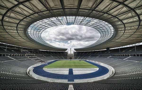 Circular Wall Art - Photograph - Olympiastadion, Berlin. by Massimo Cuomo