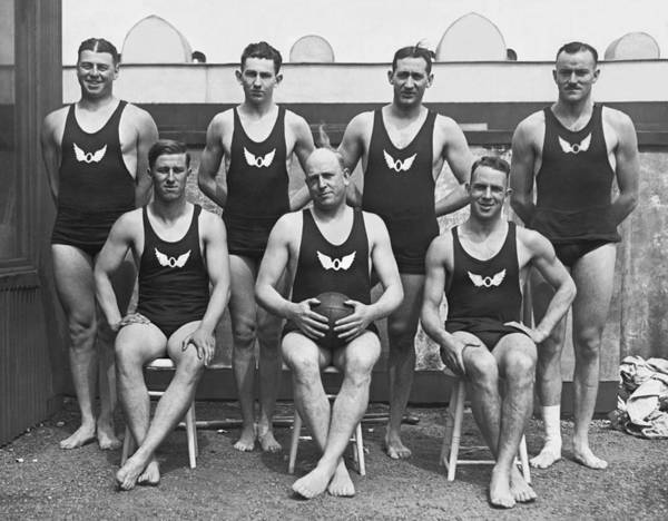 Photograph - Olympic Club Water Polo Team by Underwood Archives