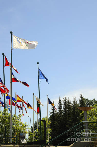 Photograph - Olympic Flags by Brenda Kean