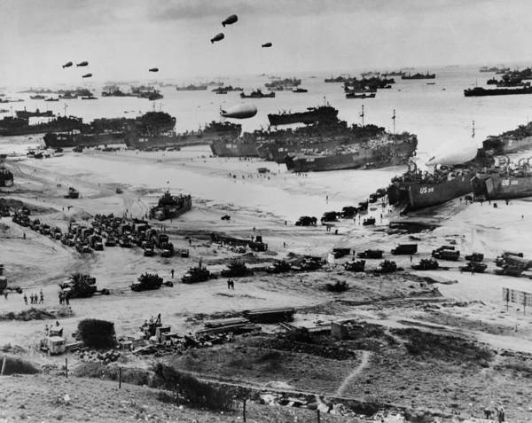 Wall Art - Photograph - Omaha Beach After D-day. Protected by Everett