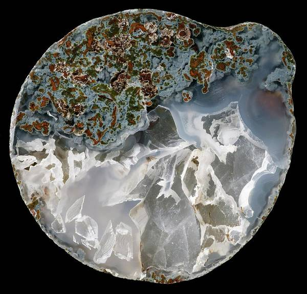 Geodes Photograph - Omineca Agate by Natural History Museum, London/science Photo Library