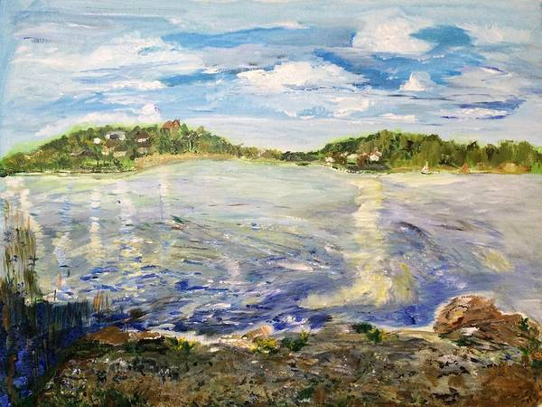 Baltic Sea Painting - On A Clear Day I Can See Forever by Belinda Low