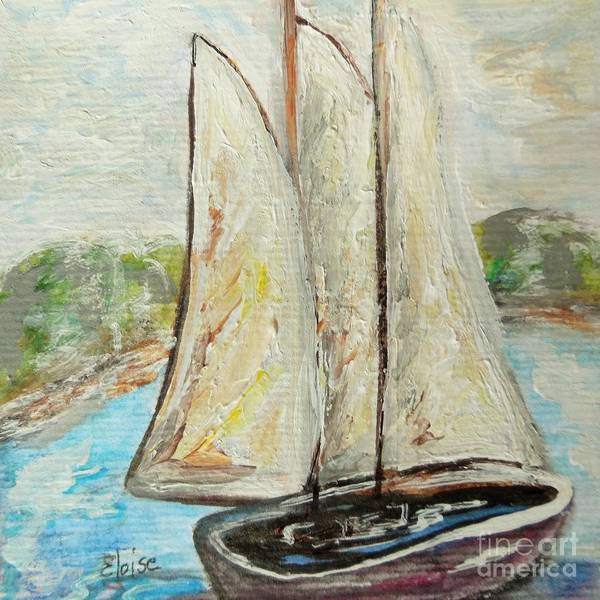 Impressionistic Sailboats Painting - On A Cloudy Day - Impressionist Art by Eloise Schneider Mote