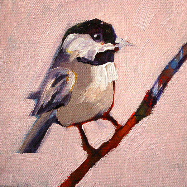 Bird Painting - On A Limb by Nancy Merkle