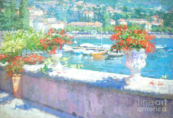 Lake Como Painting - On A Morning In August by Jerry Fresia