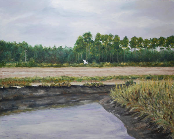Painting - On A Tidal Creek by Stanton Allaben