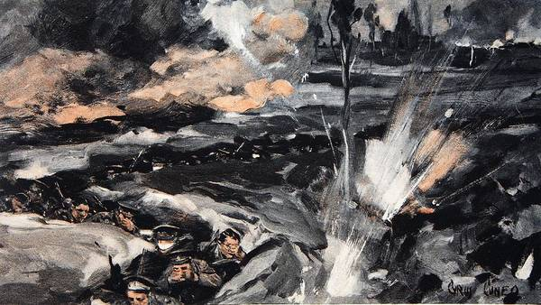 Trench Wall Art - Drawing - On An Occasion When The German Poison by Cyrus Cuneo