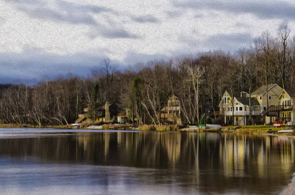Pocono Mountains Wall Art - Photograph - On Arrowhead Lake by Bill Cannon