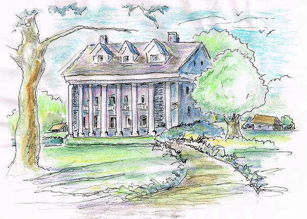 Mansion Mixed Media - On Bayou Teche by Jacqueline Juge