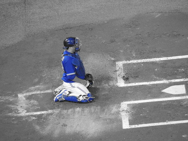 Toronto Blue Jays Photograph - On Bended Knees by Natasha Anderson