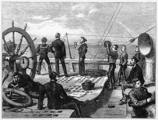 Log Drawing - On Board A Troop Ship Bound by  Illustrated London News Ltd/Mar
