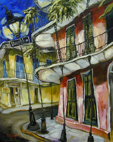 Spanish Restaurant Painting - On Dauphine by Carole Foret