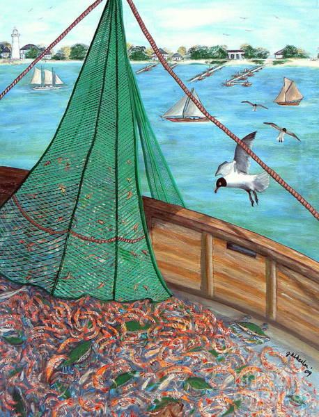 Wall Art - Painting - On Deck by JoAnn Wheeler