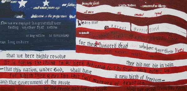 Gettysburg Address Wall Art - Painting - On Hallowed Ground by Lawrence  Dugan