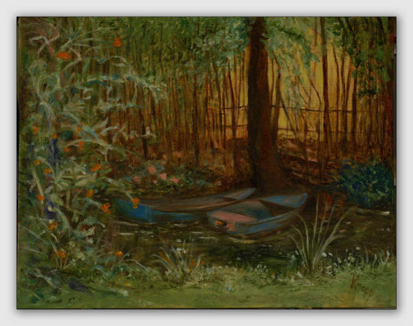 Painting - On Monet's Pond by Kathy Knopp
