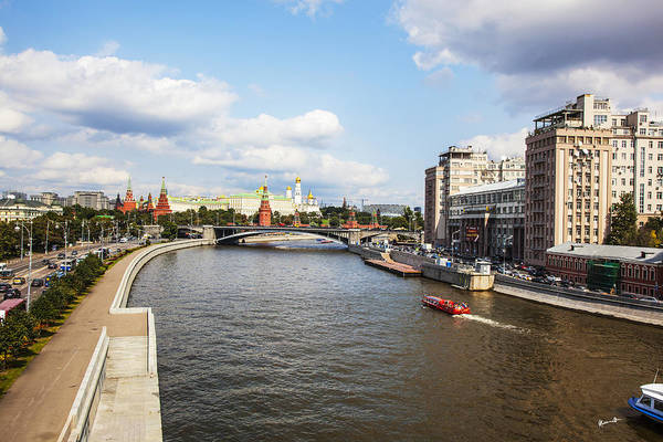 Wall Art - Photograph - On Moscow River - Russia by Madeline Ellis