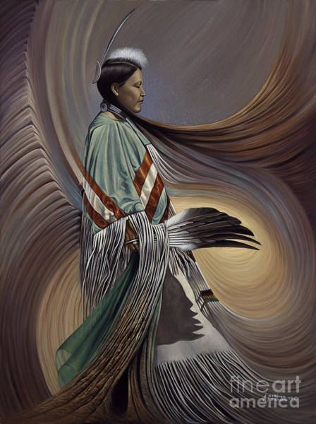 Maiden Wall Art - Painting - On Sacred Ground Series I by Ricardo Chavez-Mendez