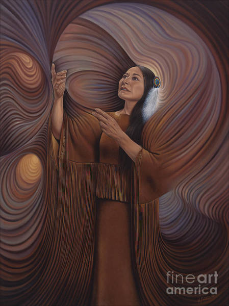 Painting - On Sacred Ground Series V by Ricardo Chavez-Mendez