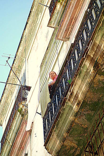 Wall Art - Photograph - On The Balcony by Valentino Visentini