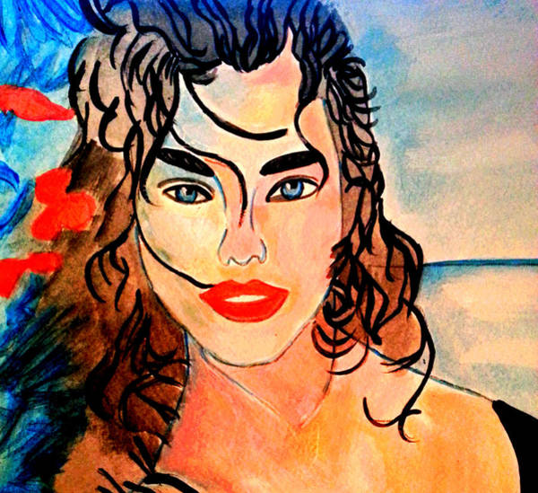 Painting - On The Beach 2 by Nikki Dalton