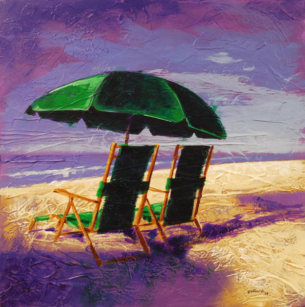 Painting - On The Beach by Glenn Pollard