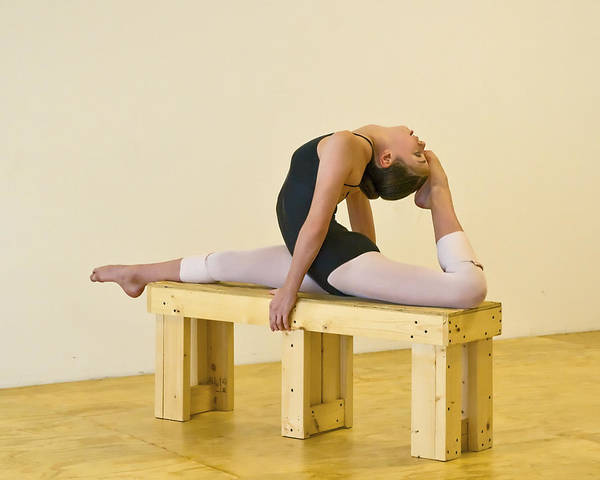 Photograph - Practicing Ballet On The Bench by Ginger Wakem